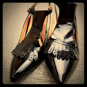 JOAN & DAVID black patent heels